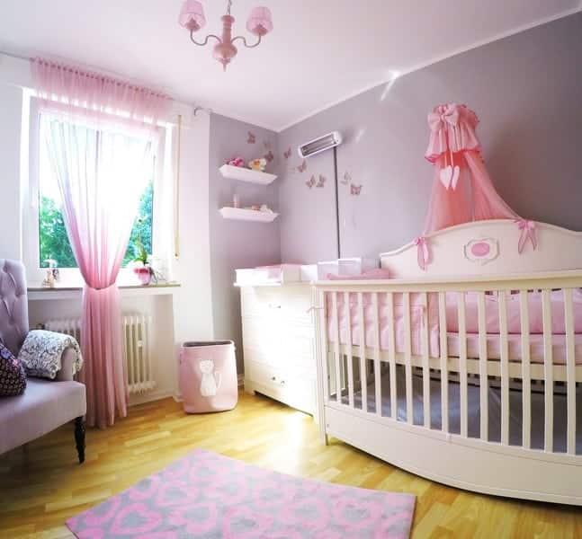 Babyzimmer Gute Nacht für Mädchen