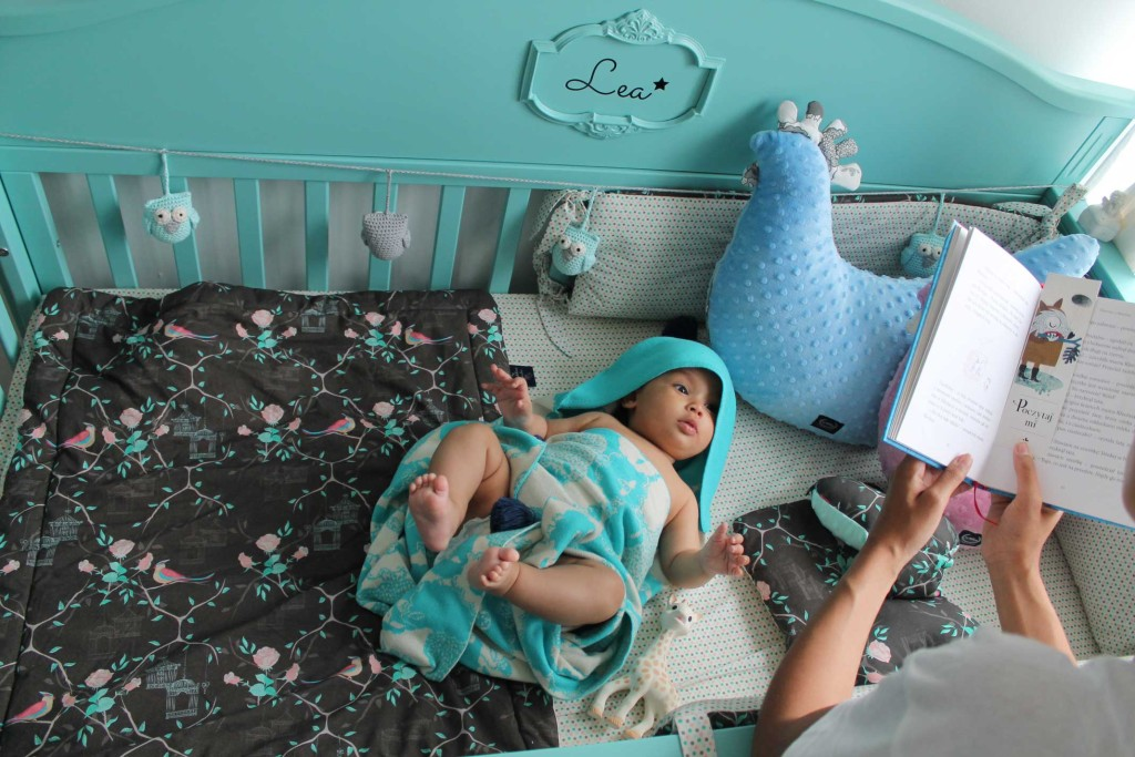 Babybett Gute Nacht Minze