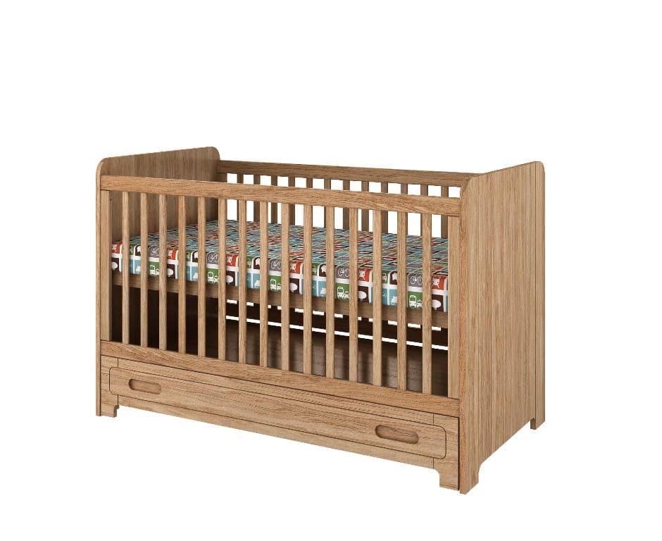 babybett wood ist 140x70 cm aus massiver eiche mdf zimmeria. Black Bedroom Furniture Sets. Home Design Ideas