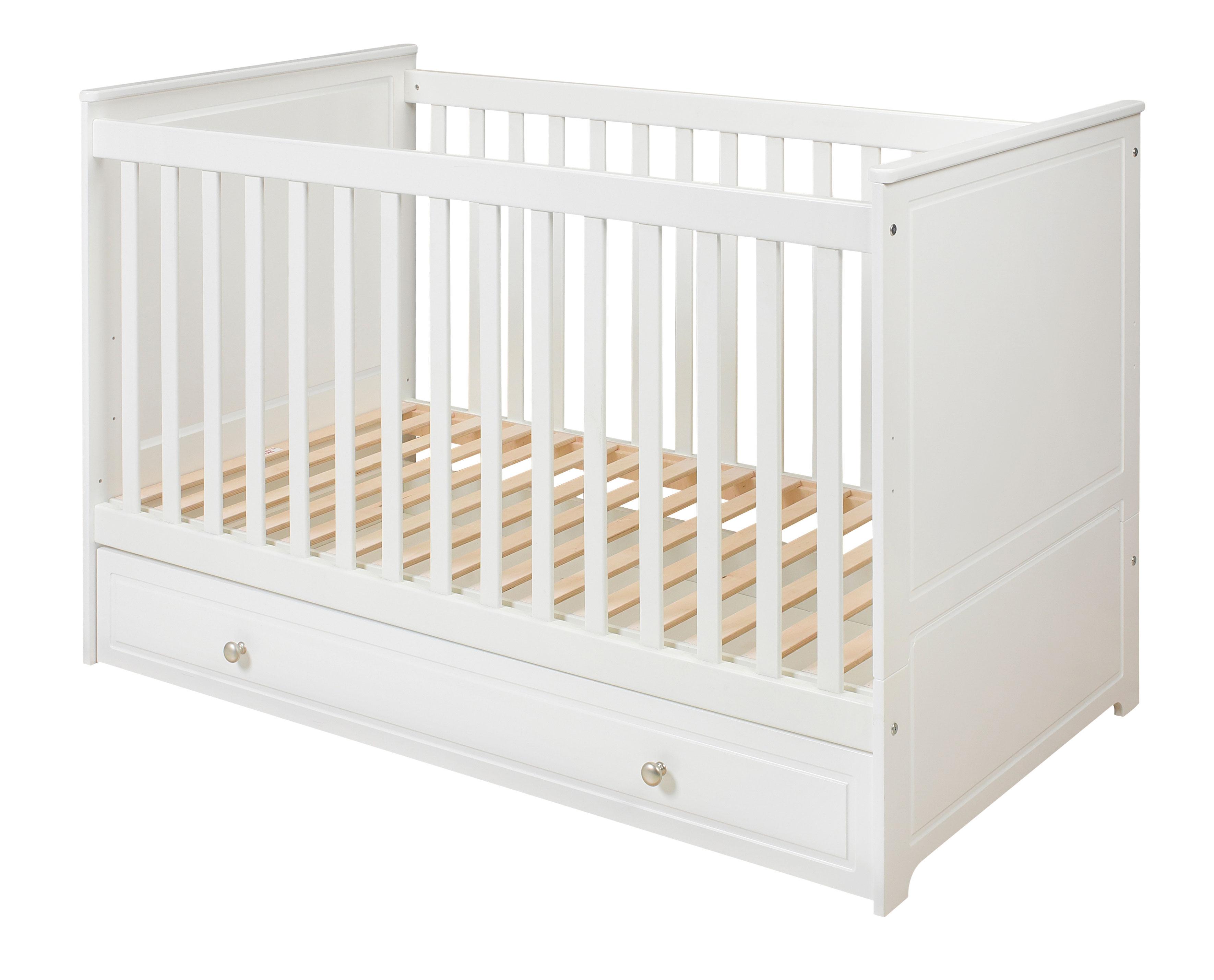 Kinderbett weiß mit schubladen  Babybett 120x60 cm