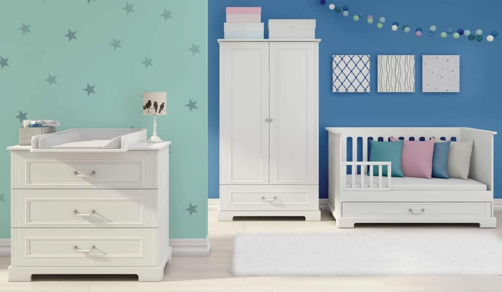 kinder babyzimmer traum komplett online kaufen zimmeria. Black Bedroom Furniture Sets. Home Design Ideas