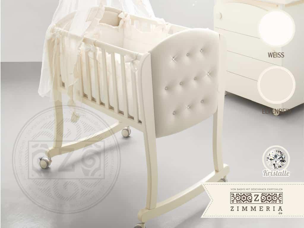 Babywiege Stubenwagen Firenze aus Italien mit Swarovski Steinen
