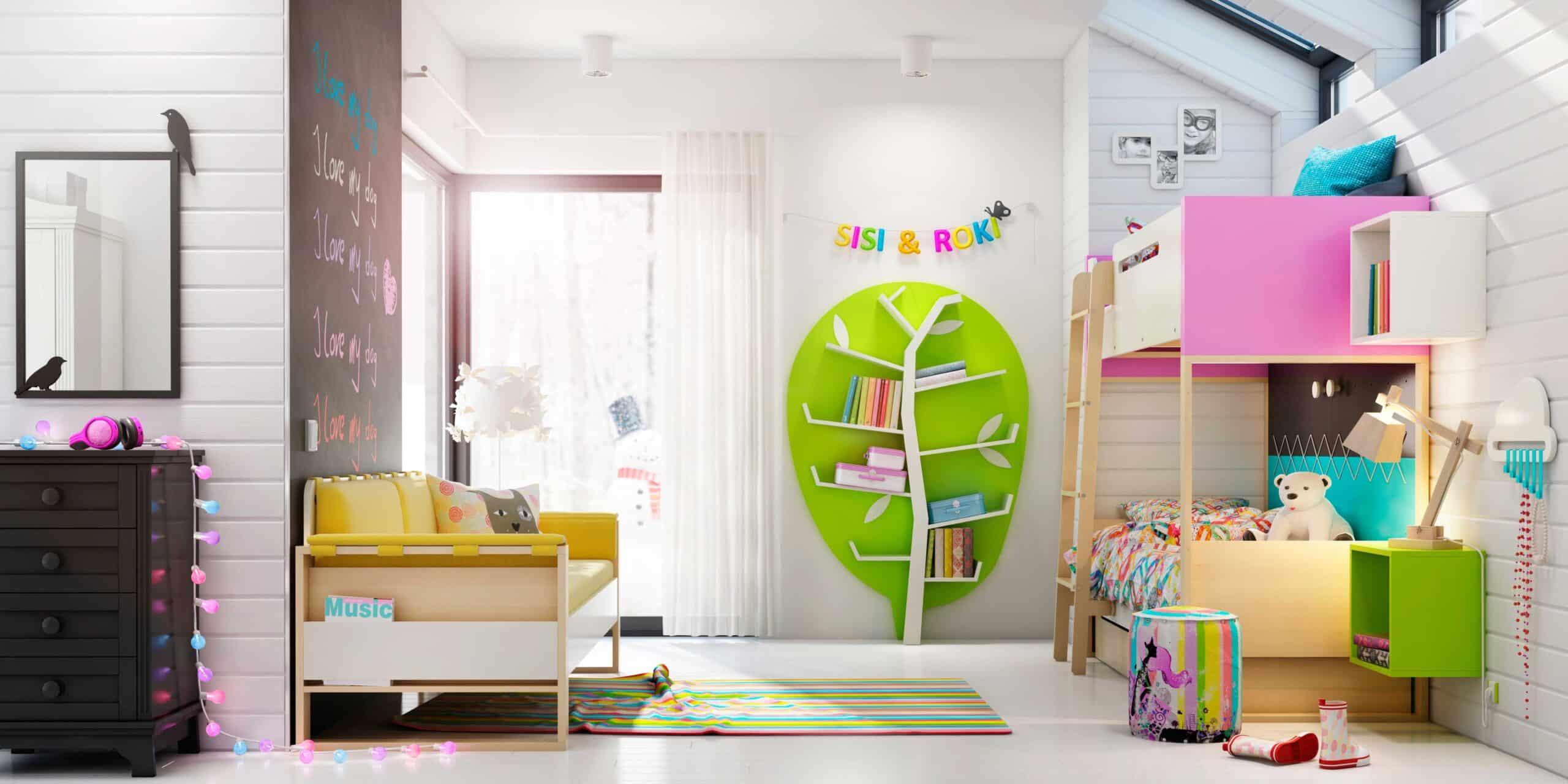 Bucherregal Furs Kinderzimmer Wandregal Light Line Bei Zimmeria