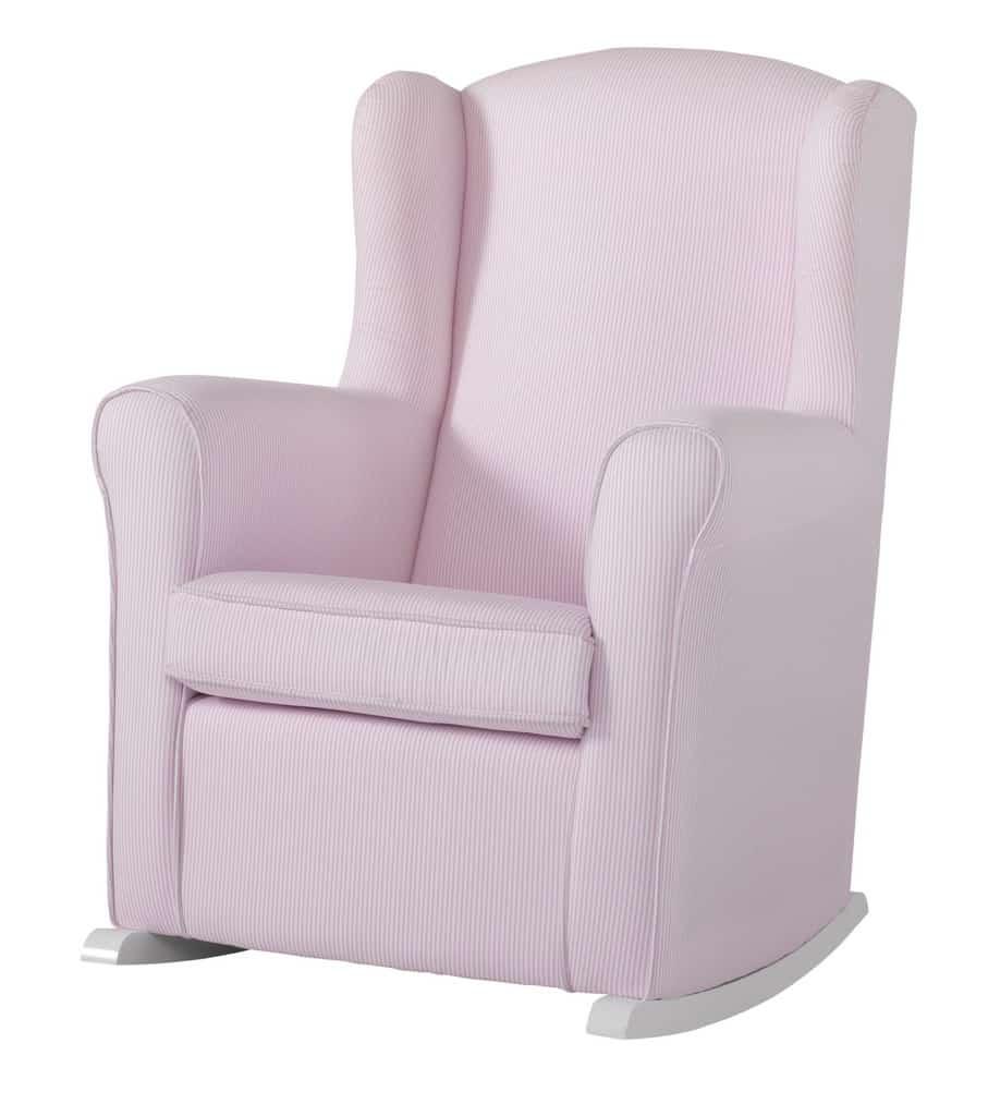 schaukelsessel butaca mit gestreifter polsterung zimmeria. Black Bedroom Furniture Sets. Home Design Ideas