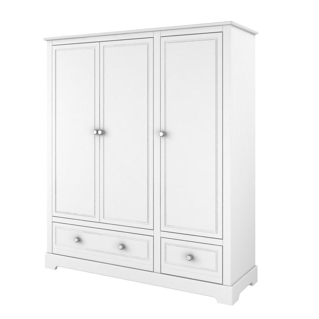 kleiderschrank mary 3 t rig hellgrau o wei f r babyzimmer zimmeria. Black Bedroom Furniture Sets. Home Design Ideas