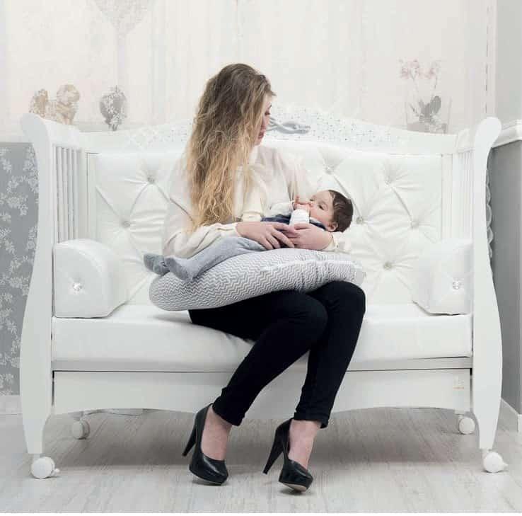 Babybett Magnifique Lux mit Swarovski Kristallen von Italbaby - Sofa-Variation
