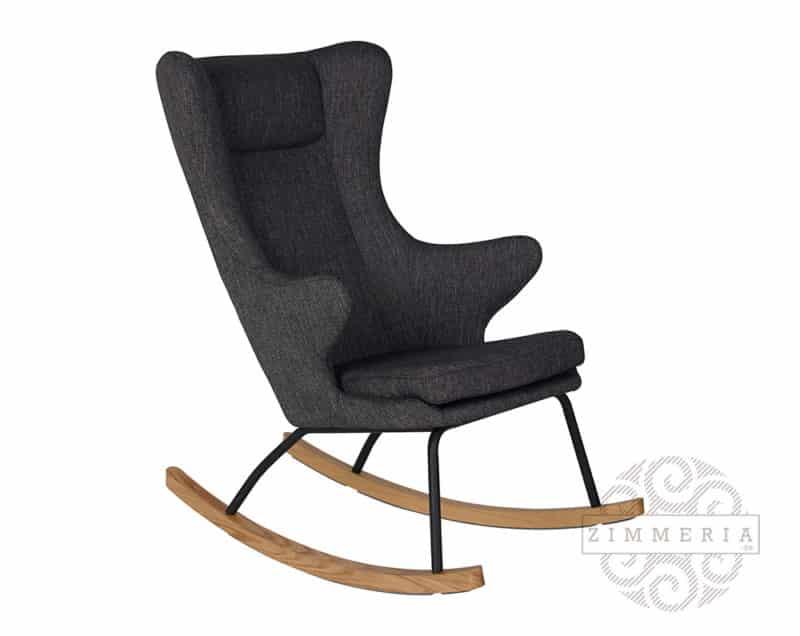 Schaukelsessel-Stillstuhl-Relaxsessel-De-Luxe-von-Quax-Schwarz-für-Babyzimmer-Dunkelgrau-zimmeria