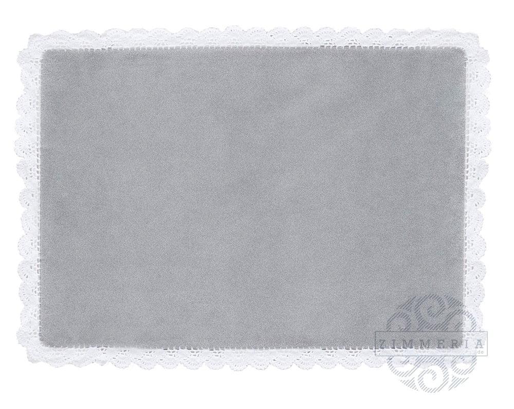 Teppich mit häkelrand u201eboston grauu201c 168 x 128 cm zimmeria.de