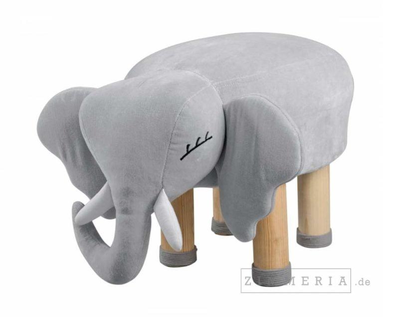 Sitzhocker Elefant Berlin GRAU