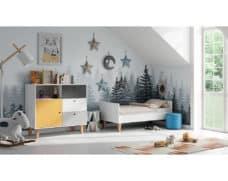 Kinderzimmer Concept Grau Gelb Weiß umgebaut