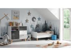 Kinderzimmer Concept Grau Schwarz Weiß umgebaut
