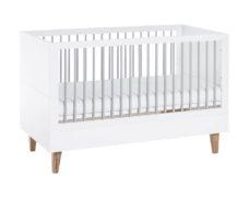 Babybett Concept 140x70 Weiß Grau