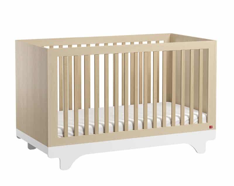 Babybett Playwood 140x70 cm Birke/Weiss