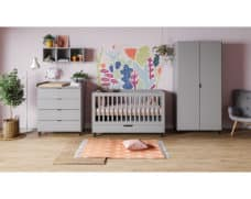 Babyzimmer Simple in Grau 3-teilig