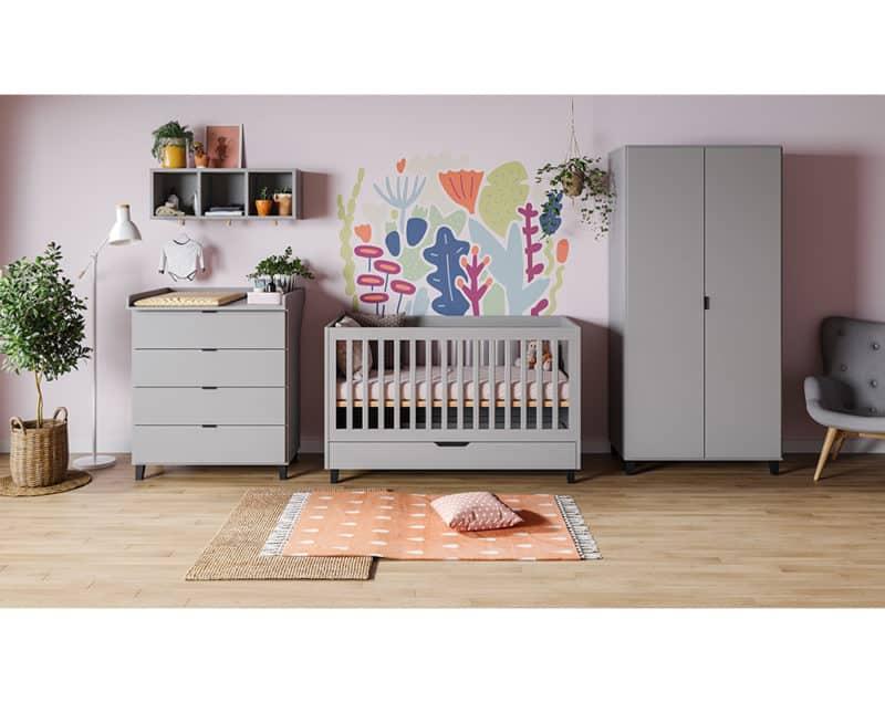 Babyzimmer Simple in Grau 3-teilig
