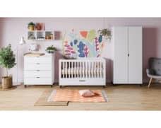 Babyzimmer Simple in Weiß 3-teilig