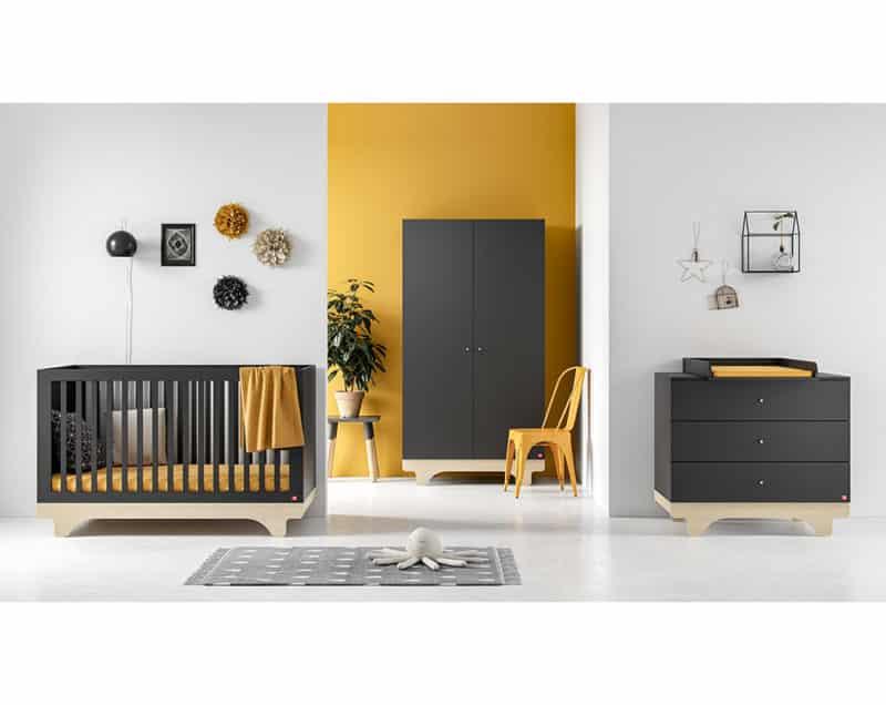 Babyzimmer-Set Playwood in Graphit/Birke