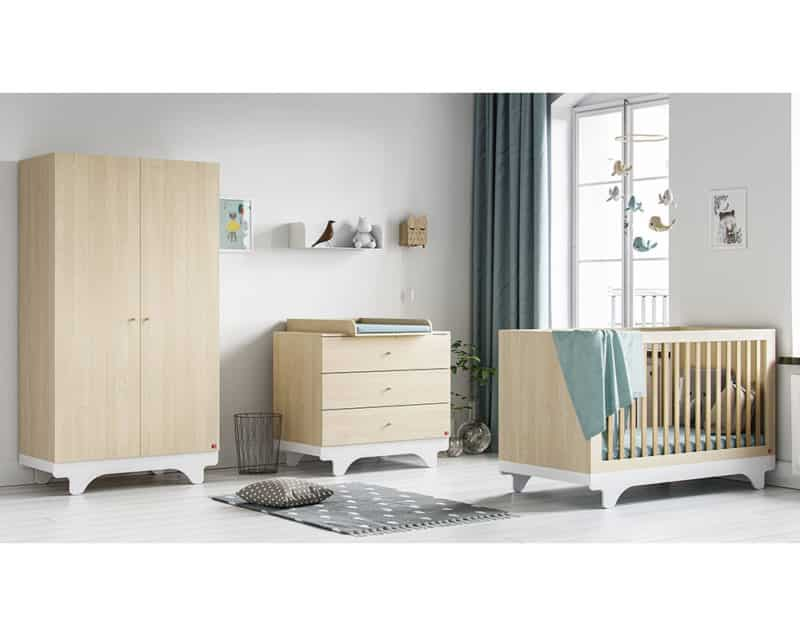 Babyzimmer-Set Playwood in Birke/Weiss