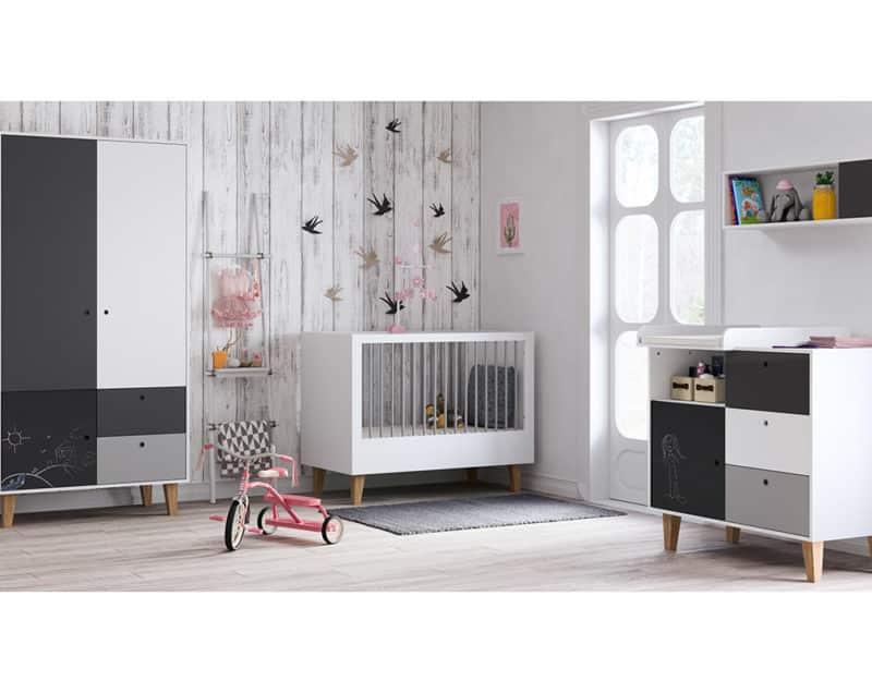 Babyzimmer Concept Grau Schwarz Weiß