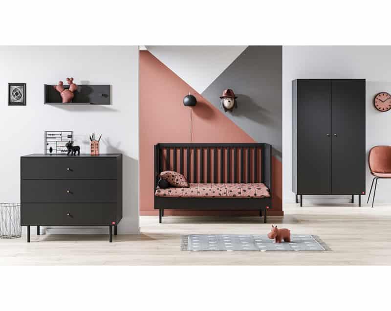 Babyzimmer Cute 3-teilig in Schwarz