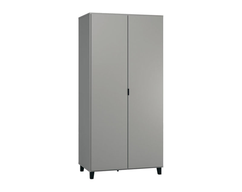 Kleiderschrank Simple in Grau