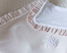 """Baby Decke """"Potsdam Rosa"""" mit Rüschen Rosa-Weiss bei Zimmeria.de"""