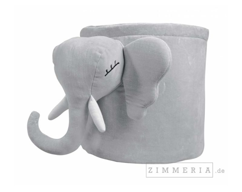 Stoffkorb Elefant Berlin Grau bei Zimmeria.de