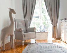 """Dekorative XL Giraffe """"Bremen Beige"""" 120 cm Kinderzimmer Deko"""