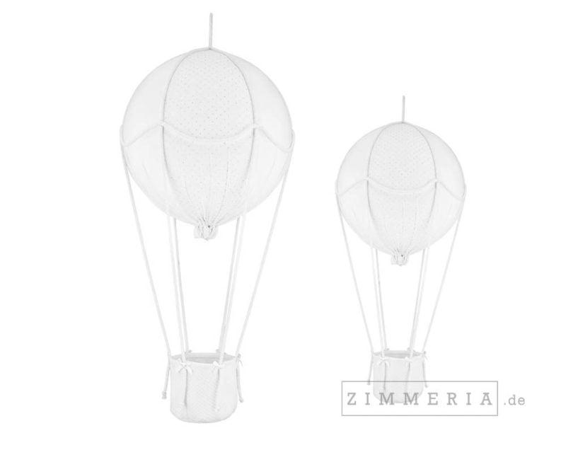 Deko Heissluftballon Frankfurt Weiss & Silber Set Kinderzimmer bei Zimmeria.de