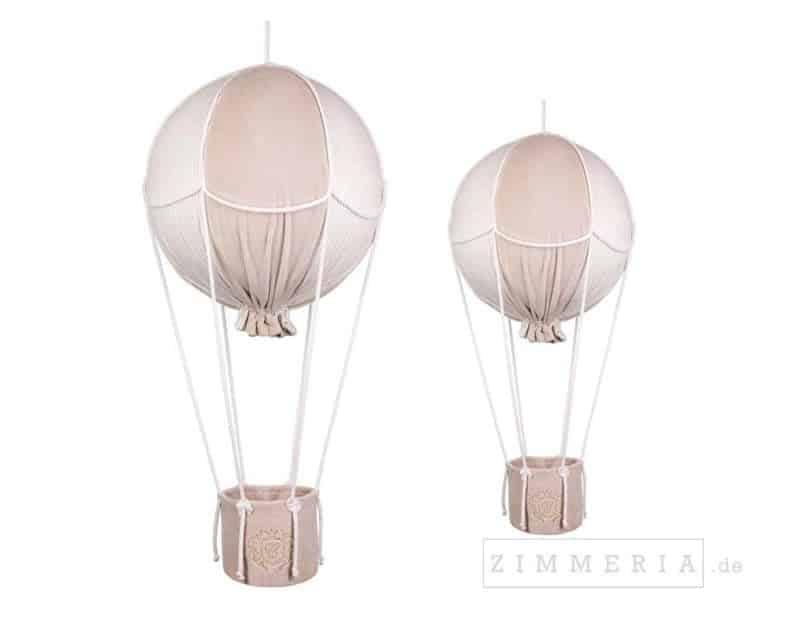Deko Heissluftballon 2er-Set Bremen Beige Samt Kinderzimmerdeko bei Zimmeria.de