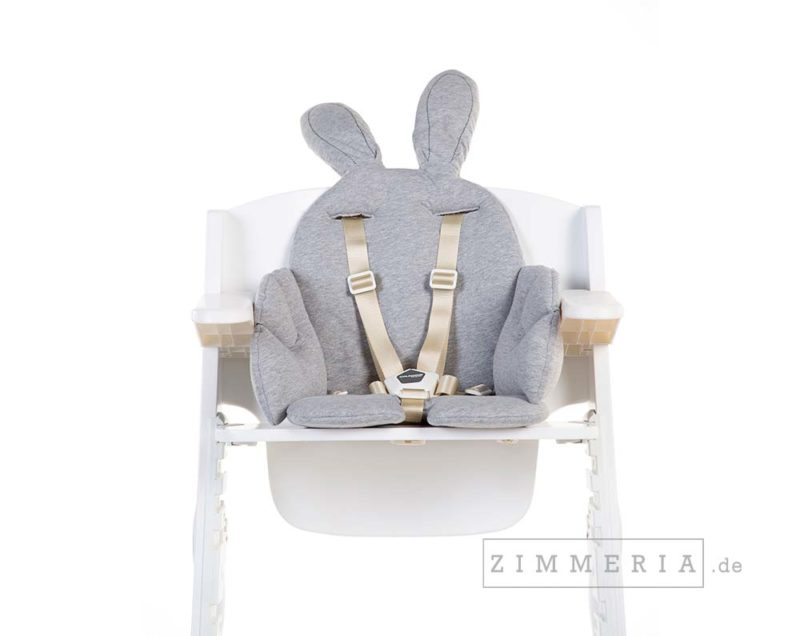 Sitzkissen Kaninchen Grau mit Ohren für Hochstuhl bei zimmeria.de