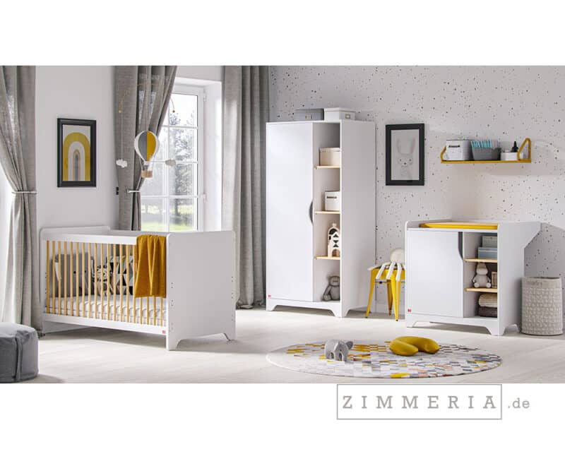Kinderzimmer Leaf 3-teilig in Weiß