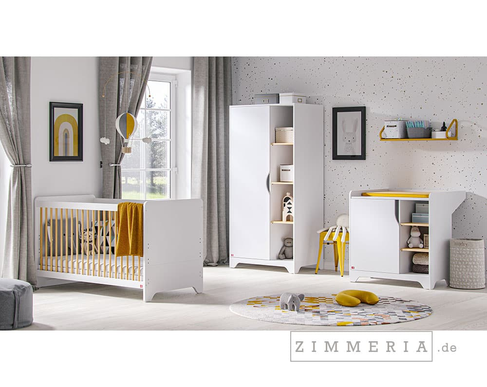 Babyzimmer Leaf 3-teilig in Weiß