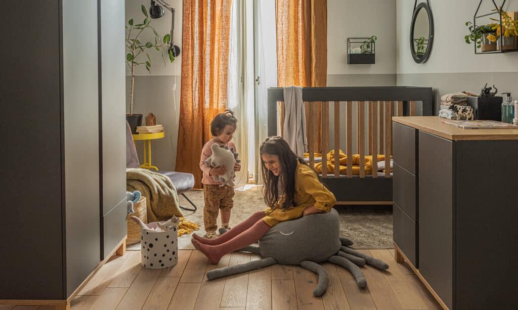Babyzimmer Altitude in Grau 3-teilig Lifestyle