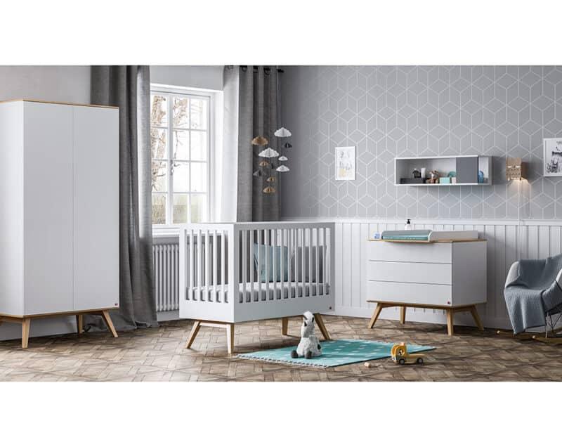 Babyzimmer-Set Nature Baby in Weiß mit Eiche