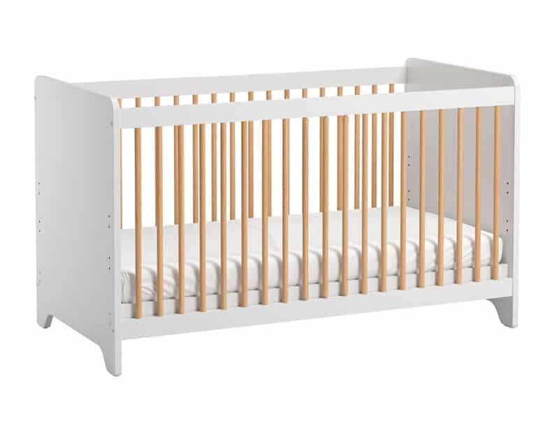 Kinderbett Leaf 140x70 in Weiß