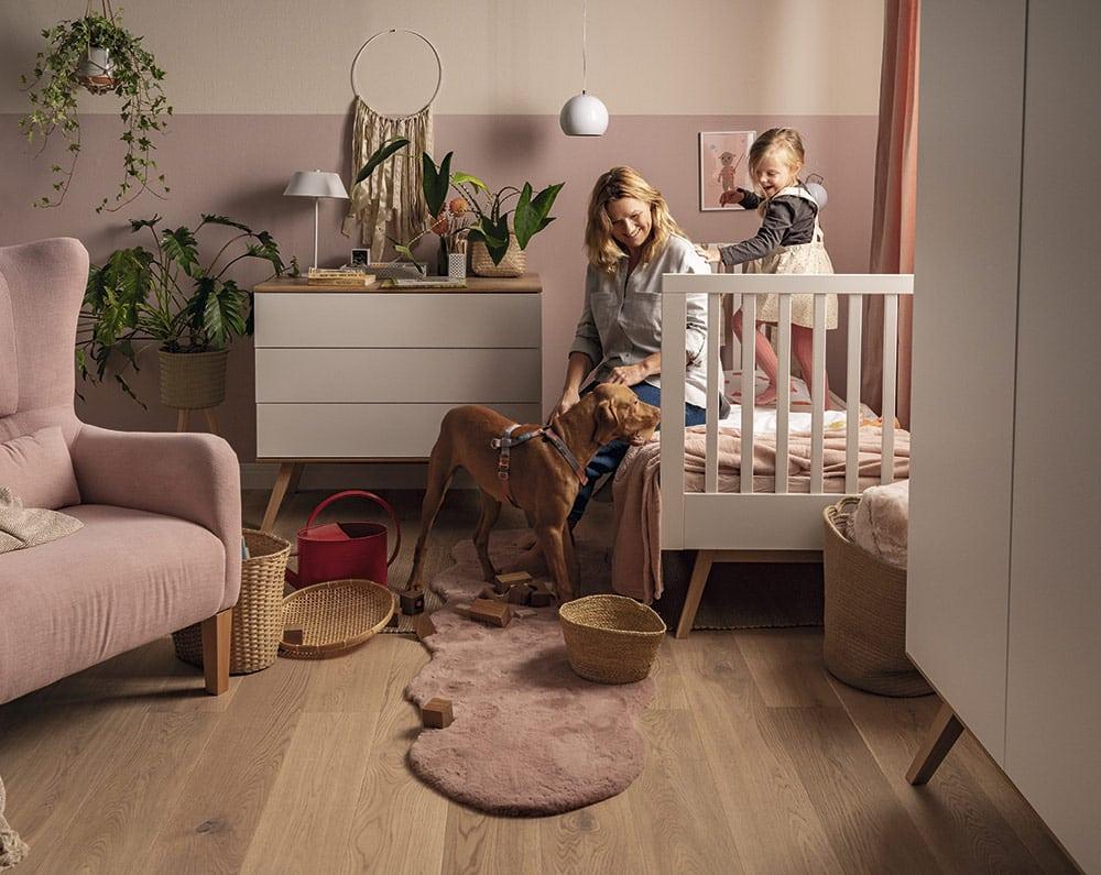Babyzimmer-Set Nature Baby 3-teilig in Weiß mit Eiche Lifestyle
